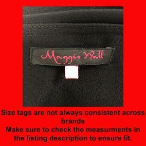Maggie Walt Skirts - Maggie Walt black waterfall side tie skirt